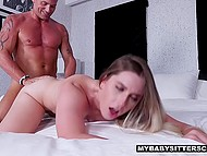 Caring stepfather shows house to his young stepdaughter and slowly starts to nail her 7