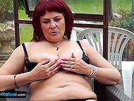 Two solo scenes with mature ladies show spectators that women become more playful with age 8