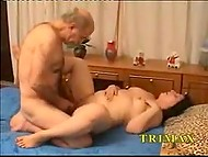 Young lover leaves Turkish MILF naked when old husband appears, so he continues fucking this lustful hole