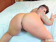 Inked BBW follows handsome stranger to his place and gets asshole penetrated with no mercy 8