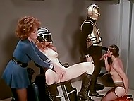 Vintage porn version of blockbuster 'Star Wars' starring lustful Jedy girls and C-3PO