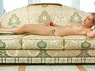 Innocent blonde tells own treasured sex fantasies and then begins masturbation 11