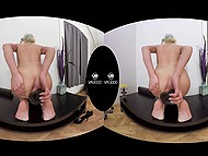 This blonde loves playing with her cunny and for this she has special gadgets 8