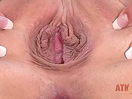 Graceful girl was so horny that her pussy opened like rose and got wet from sexy desire 9