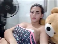 Viewers of web chat got convinced that ladyboy had not just huge boobs but also massive dick 10