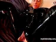 Raunchy German babe in latex suit invited stranger to have rough anal fuck 6
