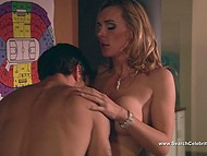 Adult blonde will use any free time to have fun with her horny co-worker 8