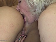 Old woman teaches young and sexy companion how to have amazing lesbian sex 11