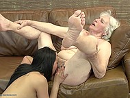 Old woman teaches young and sexy companion how to have amazing lesbian sex 3