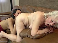 Old woman teaches young and sexy companion how to have amazing lesbian sex 5