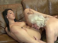 Old woman teaches young and sexy companion how to have amazing lesbian sex 8