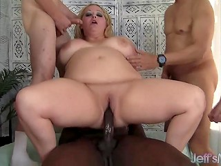 Chubby princess gets a crowd of guys who are ready to fuck her in unstoppable way