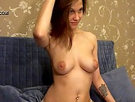 Teenage Estonian sweetie finds exciting occupation namely showing off big breasts on webcam 6