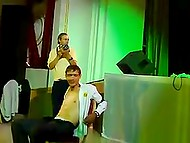 Russian stripper goes mad dancing at corporate party in front of hero of the occasion 10