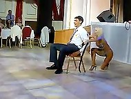 Russian stripper goes mad dancing at corporate party in front of hero of the occasion 4