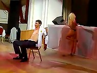 Russian stripper goes mad dancing at corporate party in front of hero of the occasion 9