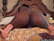 It's unclear how such a hot chocolate with strong booty needs to tease her pussy in loneliness 8