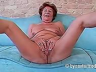 Старушке из Германии перевалило за шестьдесят, но она решила засветить вагину на перед камерой
