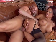 Busty Eva Angelina takes down fucker's pants only to enjoy his dick in mouth and pussy as soon as possible