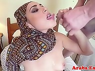 Sexy Arab girl prefers to give her pussy to hotel owner for money instead of leaving the room 10
