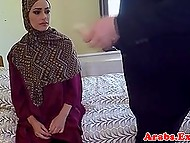 Sexy Arab girl prefers to give her pussy to hotel owner for money instead of leaving the room 3