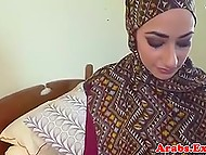 Sexy Arab girl prefers to give her pussy to hotel owner for money instead of leaving the room 4