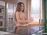 Young cutie adores cooking goodies in kitchen when she is naked so she can attract friend to fuck her 4