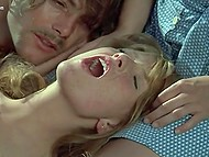 Gerard Depardieu and his mustached friend are having wonderful sex with hot blonde 7