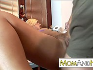 Blonde MILF came to kitchen not to eat fruits only, but also to get fucked by her man 5