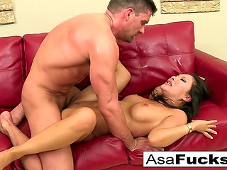 Mighty dude in mask drills sweet Asian woman's tight ass hole for real fun