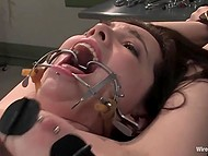 Evil nurse noticed a sexy patient and drilled her wet hole with special instrument 10