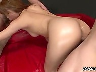Men's dicks are hard as steel that means unshaven Japanese vagina will squirt soon 8