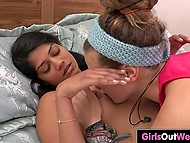 Lesbian Indian girl and friend satisfy pussies with tongues and fingers every single day 3