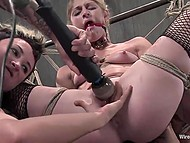 Unpredictable mistress punishes her poor girlfriends by using special equipment