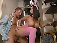 Hungarian bombshell Aletta Ocean comes to man for Easter eggs and for portion of anal banging