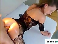Swedish temptress with awesome booty goes anal with partner in front of webcam
