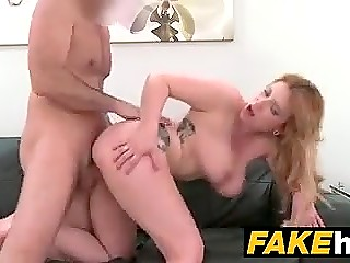 Porn agent takes some pics of sexy Spanish model and fills her hospitable pussy with cum