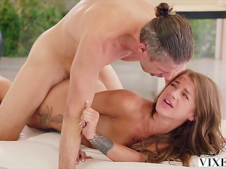 Dirty slut gives pussy to neighbor just to make him keep secret her nocturnal activities