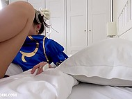 Russian girl Gina Gerson dressed like video game character Chun-Li gives great blowjob in POV video 8