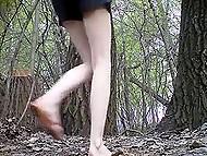 Tricky voyeur sets hidden camera in trees, where random girls often come to pee 10