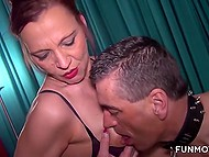 Overbearing mistress and her dutiful intern make man get through hard sexual punishment 9