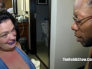 Girl has grown up and became a fat woman but she still adores black cocks in her pussy 6