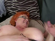 Sexual appetite of mature redhead with big natural tits can be satisfied only by young guy with hard dick 11