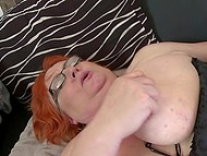 Sexual appetite of mature redhead with big natural tits can be satisfied only by young guy with hard dick 8