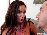 Handsome guy can't miss a chance to fuck hot stepmother of his girlfriend 4