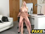 It's kinda new for British porn agent to put busty Russian blonde's pussy on his strong stick 10