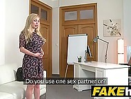 It's kinda new for British porn agent to put busty Russian blonde's pussy on his strong stick 4