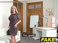It's kinda new for British porn agent to put busty Russian blonde's pussy on his strong stick 5