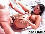 Big-tittied Asian Asa Akira woke up from nightmare then got fucked by zombie