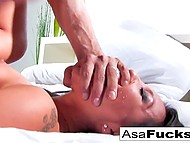 Big-tittied Asian Asa Akira woke up from nightmare then got fucked by zombie 8